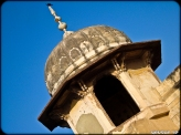 The minaret - notice the crow on top