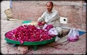 A Rose-petal vendor