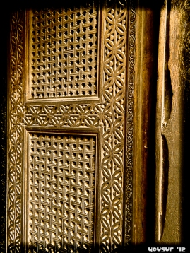 Hand-carved Wooden Door