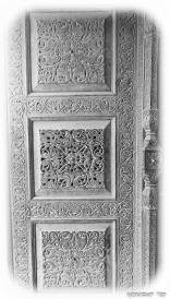 Hand-carved Wooden Door