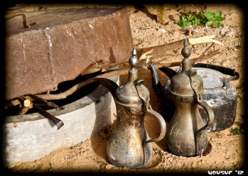 Traditional kettles for 'Kahva' (Arabic tea)