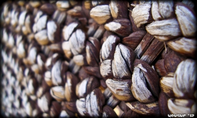 Wicker chair - extreme close-up