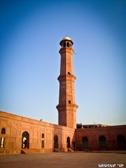 One of four large minarets