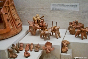 Terra-cota/clay figurines - used as toys. It is supposed that the Harrapans were the inventors of the wheel