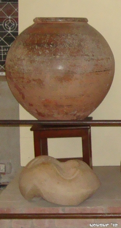 An earthen pot