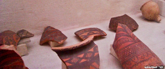Fragments of red-clay utensils