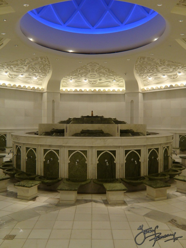 The ablution chamber