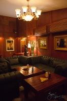 The cigar lounge