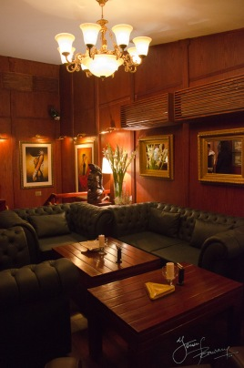 The cigar lounge