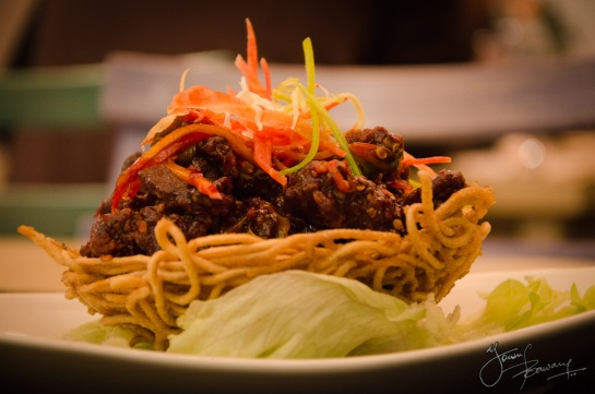 Crispy Beef in Bird's Nest