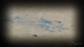 Burning oil fields over Iran