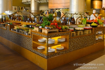 The fruit, salad and sushi bar