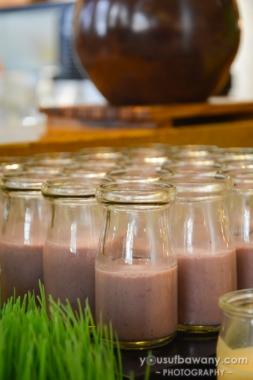Unknown drink in adorable milk bottles