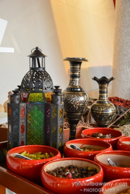 A selection of picked middle-eastern delicacies